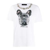 Frankie Morello Camiseta Com Estampa De Cachorro - Branco