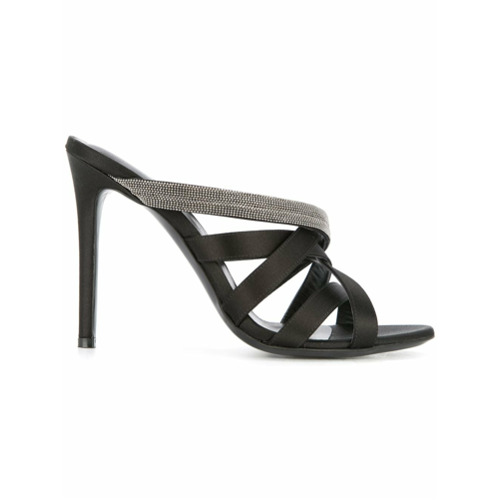 Imagem de Fabiana Filippi strappy mule sandals - Preto