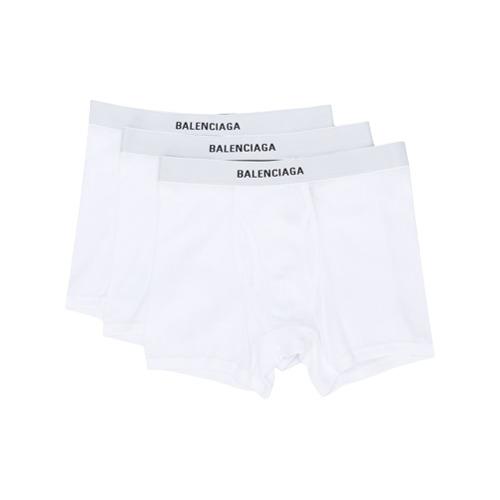 Imagem de Balenciaga Conjunto com 3 cuecas boxer com logo - Branco