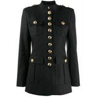 Michael Kors Collection Button-Up Military Jacket - Preto