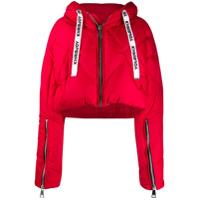 Khrisjoy Cropped Puffer Jacket - Vermelho
