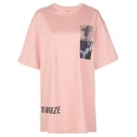 Juun.j Camiseta Oversized Com Estampa - Rosa