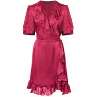 Jill Jill Stuart Vestido Com Babado - Vermelho