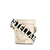 Stella Mccartney Bolsa Saco Com Logo Perfurado - Branco