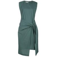 Brunello Cucinelli Vestido Midi Drapeado - Verde