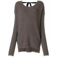 Uma Wang Suéter Canelado - Marrom