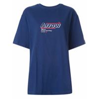 Ader Error Camiseta Oversized Com Estampa - Azul