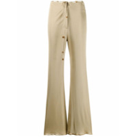 Nanushka Calça Pantalona Canelada - Neutro