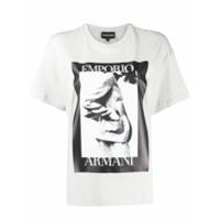 Emporio Armani Camiseta Com Logo Gráfico - Cinza