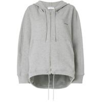 Balenciaga Suéter Com Capuz E Logo - Cinza