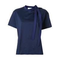 Toga Camiseta Assimétrica Com Detalhe De Amarração - Azul