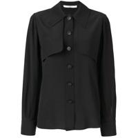 Givenchy Camisa De Seda Com Sobreposição - Preto