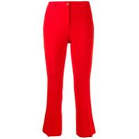 Alberto Biani Calça Slim Cropped - Vermelho