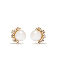Yoko London Par De Brincos Trend Em Ouro 18K Com Diamante E Pérola - Dourado