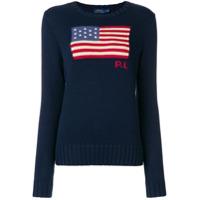 Polo Ralph Lauren Suéter 'american Flag' - Azul