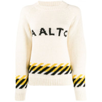 Aalto Suéter Decote Careca Com Logo - Neutro
