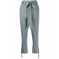 Ann Demeulemeester Striped Cropped Trousers - Azul