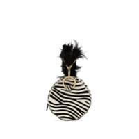 Tara Zadeh Bolsa Azar Com Estampa De Zebra - Preto