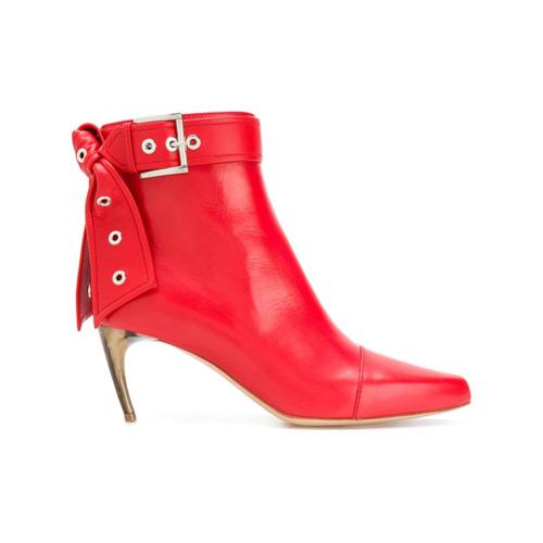 Imagem de Alexander McQueen Ankle boot de couro com fivela - Vermelho