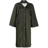 Karl Lagerfeld Casaco Impermeável Longo Com Capuz - Verde