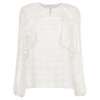 Nk Collection Blusa De Seda Com Lurex - Branco
