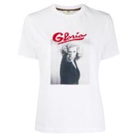 Fendi Camiseta Com Estampa Gloria - Branco
