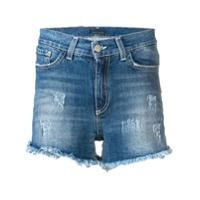 Frankie Morello Short Jeans Cintura Média - Azul