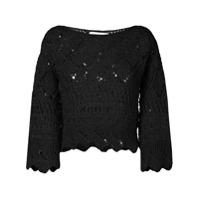 Oneonone Blusa Em Crochet - Preto