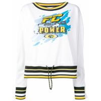 Faith Connexion Suéter Com Estampa Fc Racing - Branco