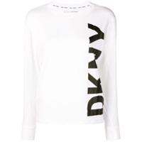 Dkny Longsleeved Logo T-Shirt - Branco