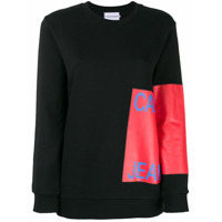 Calvin Klein Jeans Moletom Com Logo Estampado - Preto