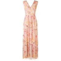 Ingie Paris Vestido Floral Com Bordado - Rosa