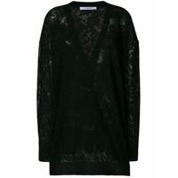 Givenchy Suéter Com Bordado Floral - Preto