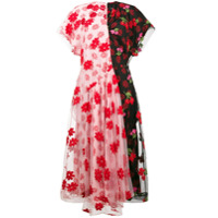 Simone Rocha Vestido Com Estampa Floral E Tule - Estampado