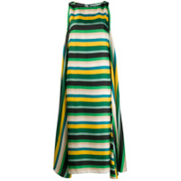 Gianluca Capannolo Ruth Striped Maxi Dress - Verde