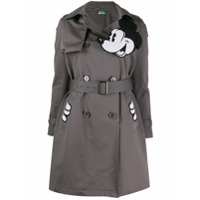 Benetton Trench Coat Com Estampa Mickey - Cinza