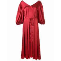 Stine Goya Vestido Midi Marlen - Vermelho