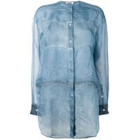Jil Sander Camisa Leve Translúcida - Azul