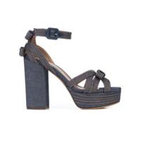 Tabitha Simmons Sandália Jeans Com Meia Pata - Azul