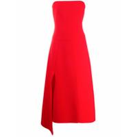 A.w.a.k.e. Mode Vestido Midi Com Tomara Que Caia - Vermelho