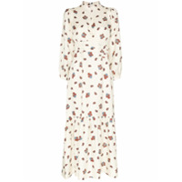 Rebecca De Ravenel Vestido Longo Floral - Branco