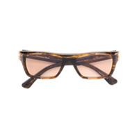 Christian Roth Óculos de sol retangular - Marrom