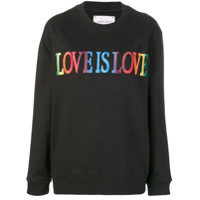 Alberta Ferretti Moletom 'love Is Love' - Preto