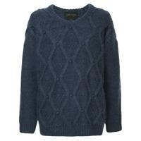Karen Walker Oversized Cable Knit Sweater - Azul