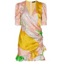 De La Vali Vestido Envelope De Seda Estampado - 009 Havanna