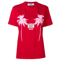 Msgm Palm Tree T-Shirt - Vermelho