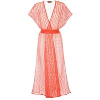 Missoni Vestido Envelope Translúcido - Laranja