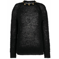 Balmain Suéter Com Detalhe De Botões Decorativos - Preto