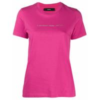 Diesel Camiseta Copyright Com Estampa De Logo - Rosa