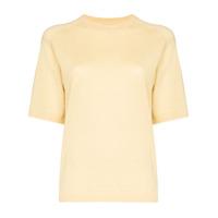 Carcel Blusa Mangas Curtas De Tricô - Amarelo